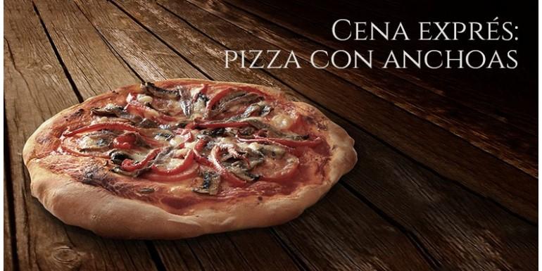 Cena expres: pizza francesa con anchoas de Cantabria